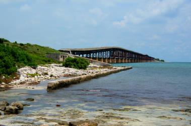 HDR of Bridge in Florida Keys by EdoDodo