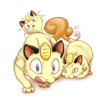 Meowth! by PyO-Illustrations