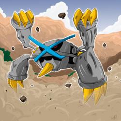 Mega Metagross Shiny Pokedex Challenger Chile by PyO-Illustrations