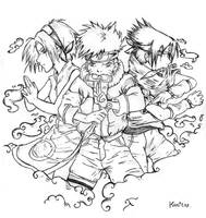 Naruto -  Team 7. by kawaiitas