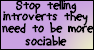 Introverts are introverts for a reason by sweetangelpieforever