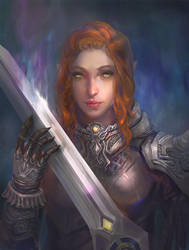Female warrior by bloodyman88
