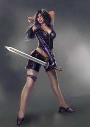 Modern Amazon warrior by bloodyman88