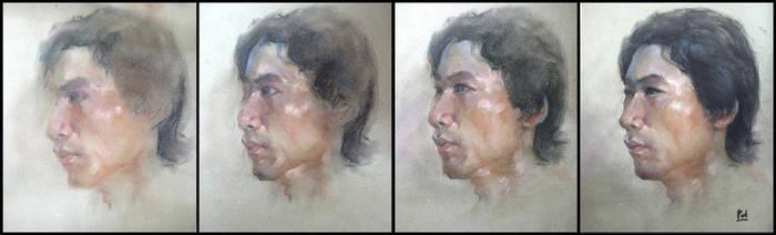 Pastel portrait - step by step by bloodyman88