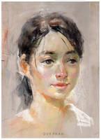Pastel portrait by bloodyman88