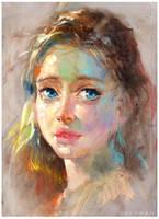 Pastel portrait 2 by bloodyman88