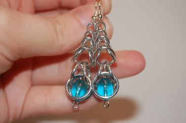 Box Chain Earrings by FragilexAir