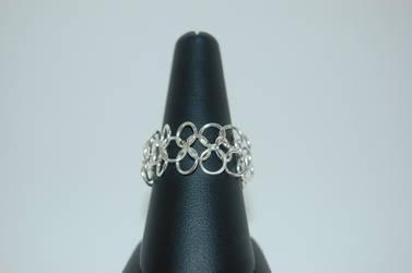 Silver Chainmail Ring by FragilexAir