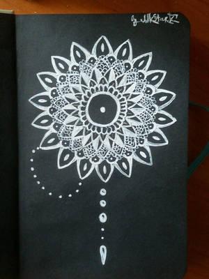 Black/White Mandala by RAD-GLaDOS