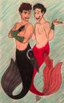 Mermen Dan and Phil  by MissyAlissy