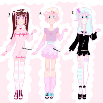 Yumekawaii Adoptables (OPEN: $20) by danderenonsense