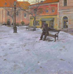 Monument of Laza Costic in Sombor by DChernov