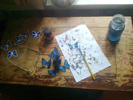 Butterflies for cosplay by Faidali