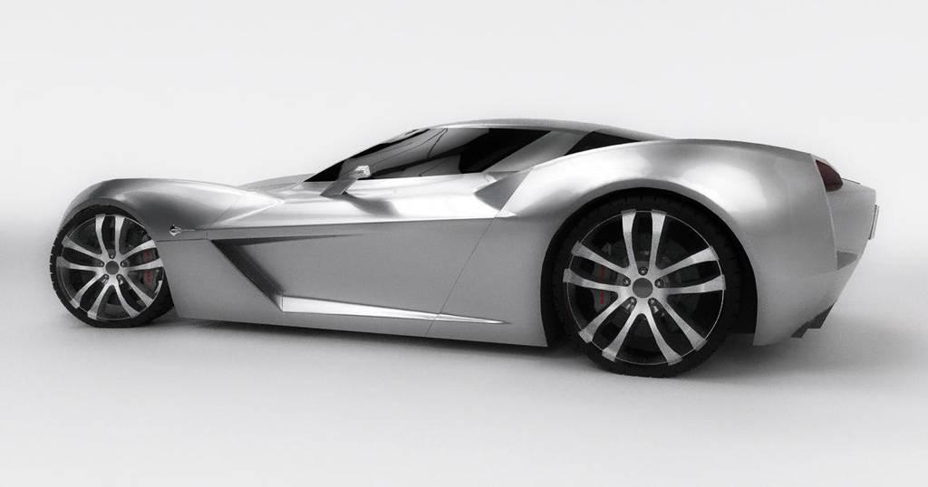 Chevrolet Corvette Stingray Concept Studio Render By E Novation On