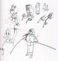 Tsuyu with her tongue using a ninja weapon by Rodlox