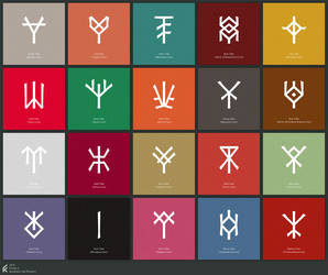 Sigils of Tribes and Clans by Florian-K