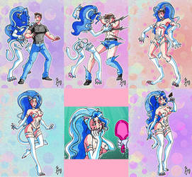 Felicia TF/TG Sequence (Kyo) by macguffin78