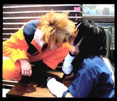 SasuNaru kiss Cosplay by slept