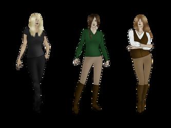 Three Heroines by Zephyrra