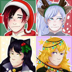 RWBY christmas icons -[F] by LectraArt