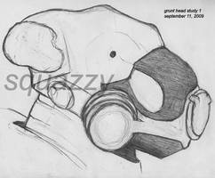 Grunt - head study 1 by squazilla