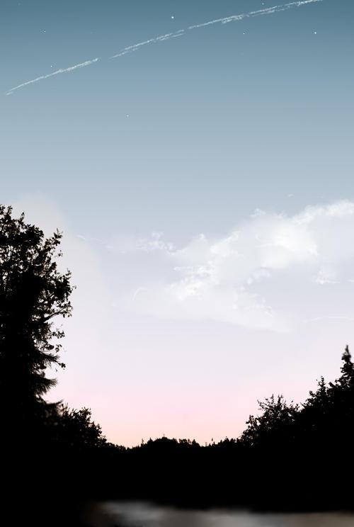Summer Sky at Night by DarkHalo4321
