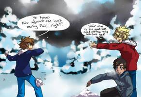 MA: Snowball fight! by DarkHalo4321
