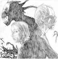 John and Crowley sketch by MYthology1