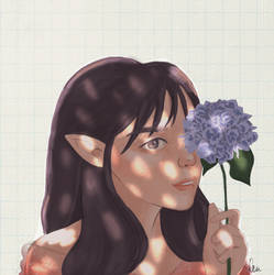 Forest Elf Princess by aprrlea