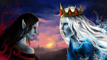 Memories. Marceline and Ice King. by vopoha