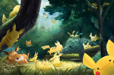 Pikachu Forest by CatCrossing