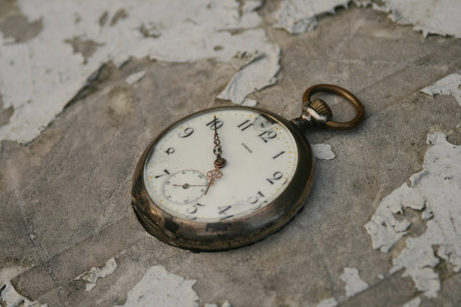 stock old broken pocket watch by Nexu4