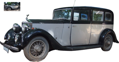 oldtimer car tolls royce png precut by Nexu4
