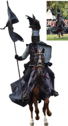 Black knight in front precut stock png by Nexu4