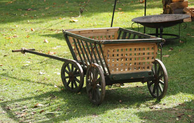 wooden handcart middelages transportation stock by Nexu4