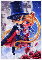 Sailor Moon and Tuxedo Mask by Saayi--san