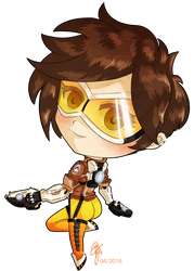 Overwatch Chibi Tracer by oOCrazyKittyOo