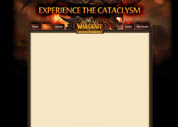 FREE WOW Template PSD by markehhh