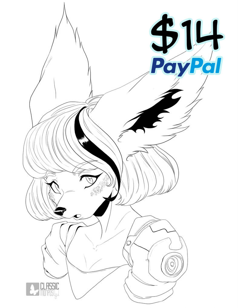 COMMISSION LINEART 2018 + OPEN + by ClassicMariposAzul