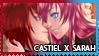 [ Stamp ] Castiel x Sarah by PollyNakamura
