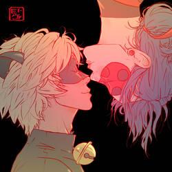 Valentine's Day- Ladynoir by invisibleninja12
