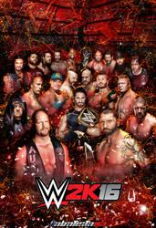 WWE 2K16 Poster by ABatista93 by AhmedBatista1993