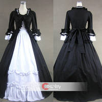 Long Sleeves Splitting Ruffled Gothic Lolita Dress by wendywei2012