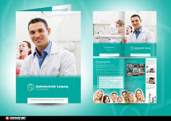 brochure dental laboratory by pinselstrich