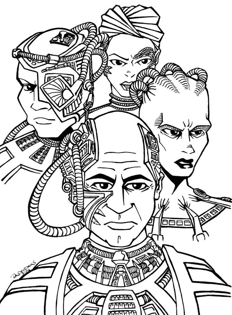 Famous Borg by DrawnToPerfection