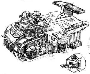 Imperial guard heavy droopship by AlexandrosIII