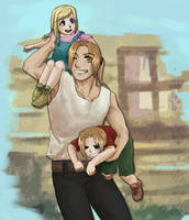 Daddy is so strong... by yoporock