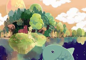 Dreamlike lake by sdPink