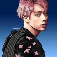 My Vector Portrait of BTS Jin by YnnaChan