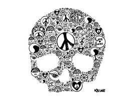 Peace-and-skull by zordesign